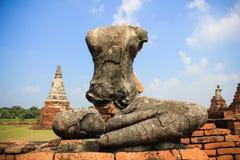Antykwarski Buddha łamający Obraz Royalty Free