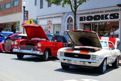 Antykwarski car show Zdjęcia Royalty Free