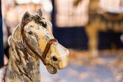Antykwarski Carousel koń Zdjęcia Royalty Free
