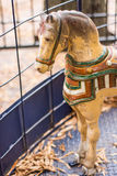 Antykwarski Carousel koń Obrazy Royalty Free