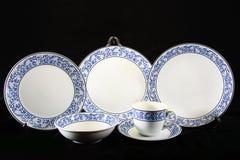 Antykwarski crockery set, set tableware Zdjęcia Stock
