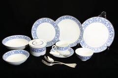 Antykwarski crockery set, set tableware Obraz Stock