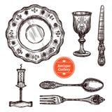 Antykwarski Cutlery set ilustracji