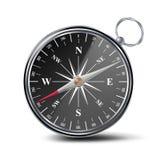 Antykwarski Cyrklowy wektor Metalu kompasu 3d przedmiot button ręce s push odizolowana początku ilustracyjna kobieta royalty ilustracja