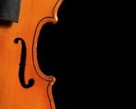 antykwarski czarny skrzypce Zdjęcie Stock