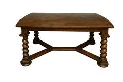 Antykwarski dębowy stół z kręconymi nogami Zdjęcie Royalty Free