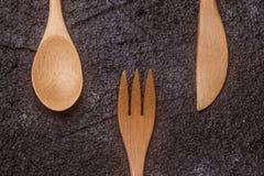 Antykwarski drewniany cutlery Fotografia Stock