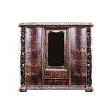 Antykwarski drewniany gabinet zdjęcia stock