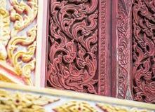 Antykwarski drewniany graweruje Zdjęcia Royalty Free