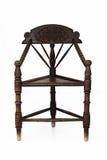 Antykwarski drewniany narożnikowy krzesło Obrazy Stock