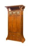 Antykwarski drewniany sztuki Nouveau gabinetowy właśnie wznawiający na bielu Fotografia Royalty Free