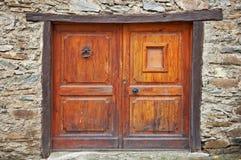 antykwarski drzwiowy drewniany Obrazy Royalty Free