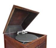 Antykwarski gabinetowy fonograf odizolowywający. Zdjęcia Stock