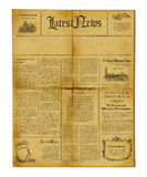 antykwarski gazetowy szablon Obraz Stock
