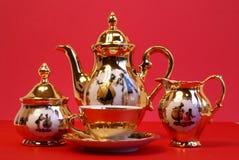 Antykwarski herbaciany set obrazy stock