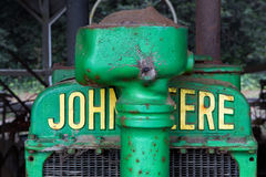 Antykwarski John Deere ciągnik zdjęcie royalty free