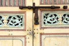 Antykwarski kędziorka drzwi Penang Obrazy Royalty Free