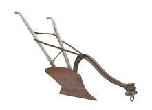 Antykwarski koń rysujący pług odizolowywający Obrazy Royalty Free