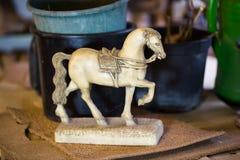 Antykwarski koń, dekoracja, stary antykwarski koń Zdjęcia Royalty Free