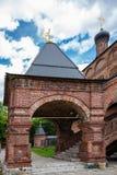 Antykwarski Krutitsy Patriarchalny przyklasztorny podwórze w Moskwa obraz stock