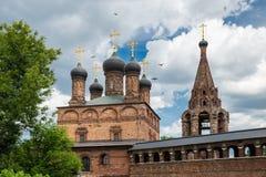 Antykwarski Krutitsy Patriarchalny przyklasztorny podwórze w Moskwa fotografia stock