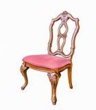 Antykwarski krzesło z poduszką odizolowywającą z ścinek ścieżką Zdjęcie Stock