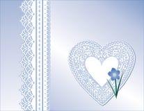 antykwarski kwiat zapomina koronkę ja nie Zdjęcie Stock