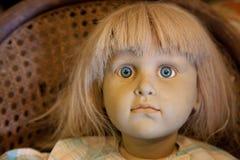 Antykwarski lala szczegół Fotografia Royalty Free