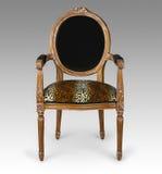Antykwarski lamparta druku krzesło Fotografia Royalty Free