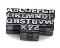 Antykwarski letterpress Zdjęcia Stock