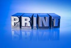 Antykwarski letterpress Fotografia Stock