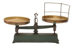 Antykwarski machinalny żelazo waży Zdjęcia Stock