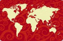 antykwarski mapa świat Zdjęcie Royalty Free