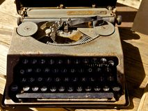 Antykwarski maszyna do pisania Obrazy Stock