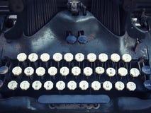 Antykwarski maszyna do pisania guzika szczegółu rocznika przedmiot Obraz Royalty Free