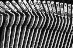Antykwarski maszyna do pisania Pokazuje Tradycyjnym Typebars VII Obrazy Stock