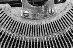 Antykwarski maszyna do pisania Pokazuje Tradycyjnym Typebars VIII Obrazy Stock