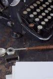 Antykwarski maszyna do pisania rocznika filtr Zdjęcia Stock