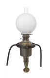 antykwarski mosiądz odizolowywający lampy oleju s statek Zdjęcie Stock