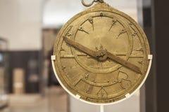Antykwarski mosiężny astrolabium Obraz Royalty Free