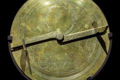 Antykwarski mosiężny astrolabium Obrazy Stock