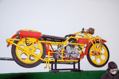 Antykwarski motocyklu gatunek ÄŒechie, 1927, 600 ccm, motocyklu muzeum (Bohmerland) Zdjęcia Royalty Free