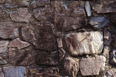 Antykwarski naturalny stonewall, tło i tekstura obrazy stock