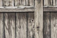 Antykwarski Nieociosany Sosnowego drewna stajni drzwi - szczegół Zdjęcie Royalty Free