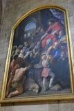 Antykwarski obraz w Notre Damae, Paryż Zdjęcie Stock