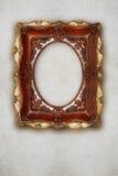 Antykwarski obrazek ramy handmade ceramics na ściennym skutku Fotografia Stock
