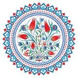 Antykwarski otoman graniczy serie dwadzieścia cztery i obramia Fotografia Royalty Free
