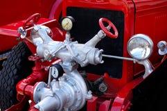 antykwarski parowozowy ogień zdjęcia stock