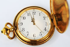 antykwarski płaski złocisty grafiki kieszeni widok zegarek Zdjęcia Royalty Free