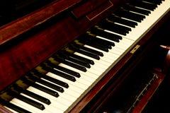 Antykwarski pianino - pianino klucz wędkujący widok Obrazy Stock